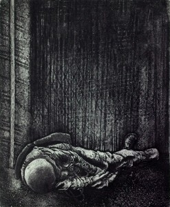4_Rice.Lived Alone in the shadow_etching 14x18in