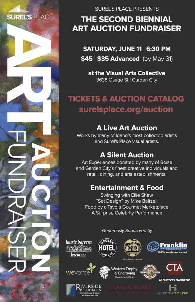 2016 Surels' Place Art Auction Poster